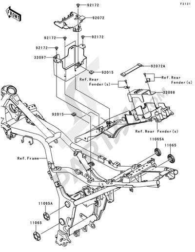 Sezionamenti di ricambi Kawasaki NINJA 250R 2008. Compra