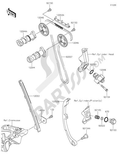 Kawasaki NINJA 250SL 2015. 分解図 純正部品をオンライン購入