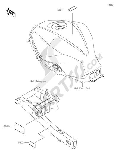 Sezionamenti di ricambi Kawasaki NINJA 300 ABS 2013