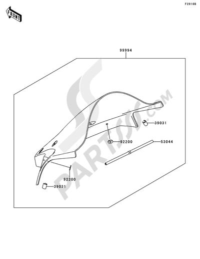 Kawasaki NINJA ZX-10R 2014 Dissassembly sheet. Purchase