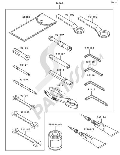 Kawasaki NINJA ZX-6R 2005. 分解図 純正部品をオンライン購入