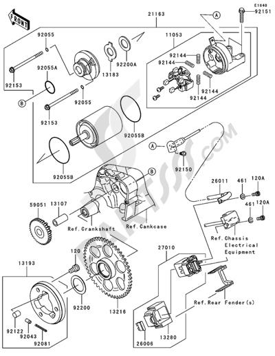 Sezionamenti di ricambi Kawasaki NINJA ZX-6R 2006. Compra