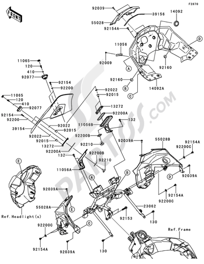Kawasaki VERSYS 1000 2014 Dissassembly sheet. Purchase