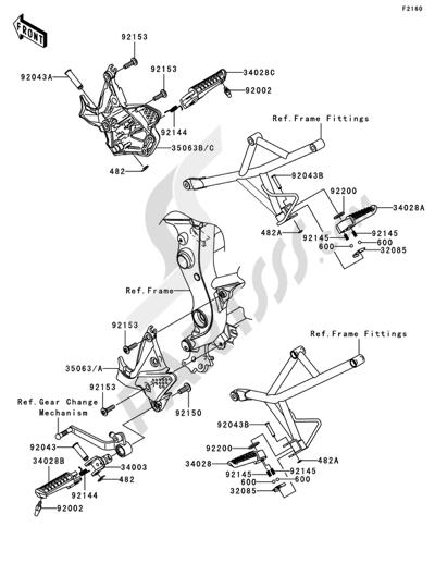 Sezionamenti di ricambi Kawasaki VERSYS 2008. Compra on