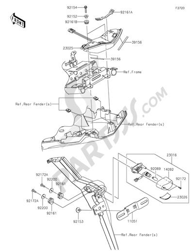Sezionamenti di ricambi Kawasaki VERSYS 650 ABS 2015