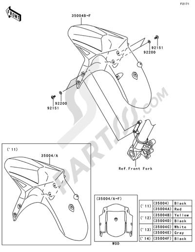 Kawasaki VERSYS ABS 2014 Dissassembly sheet. Purchase