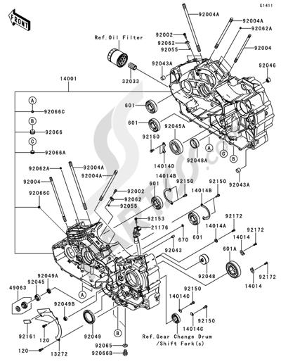 Despiece de recambios Kawasaki VN1700 CLASSIC TOURER ABS