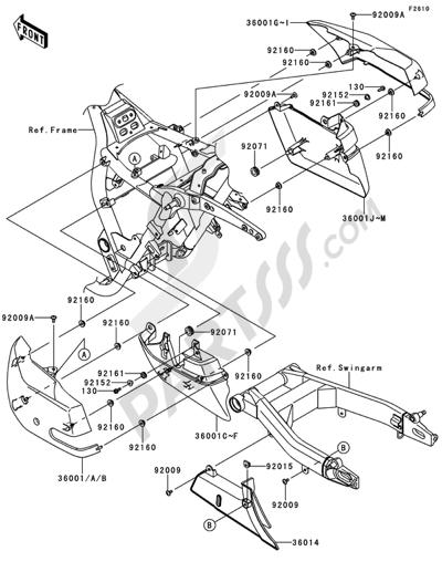Sezionamenti di ricambi Kawasaki VN1700 CLASSIC TOURER ABS