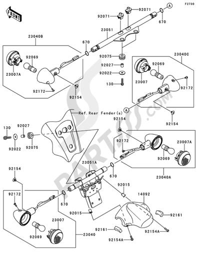Despiece Kawasaki VN1700 VOYAGER CUSTOM ABS 2011