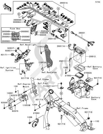 Sezionamenti di ricambi Kawasaki VN2000 2006. Compra on