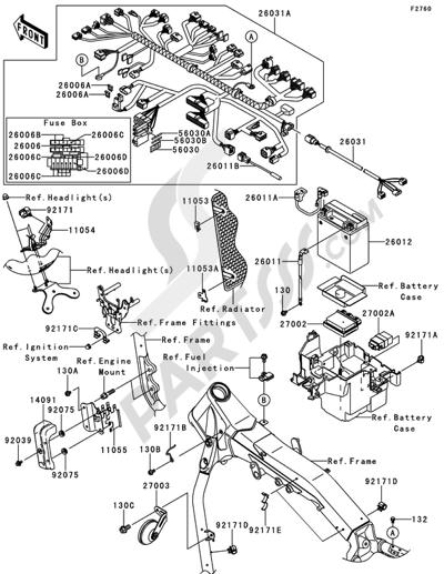 Sezionamenti di ricambi Kawasaki VN2000 CLASSIC 2008