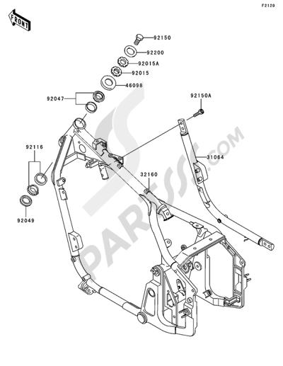 Sezionamenti di ricambi Kawasaki VN800 CLASSIC 2005