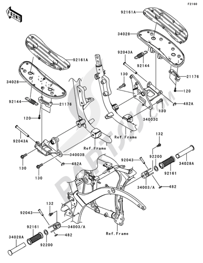 Sezionamenti di ricambi Kawasaki VN900 CLASSIC 2010