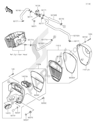 Kawasaki VULCAN 900 CLASSIC 2015 Dissassembly sheet