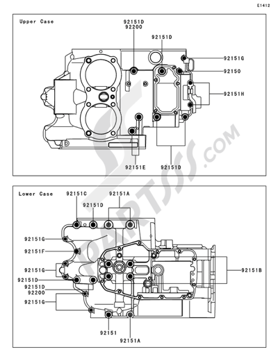 Kawasaki W800 2011. 分解図 純正部品をオンライン購入
