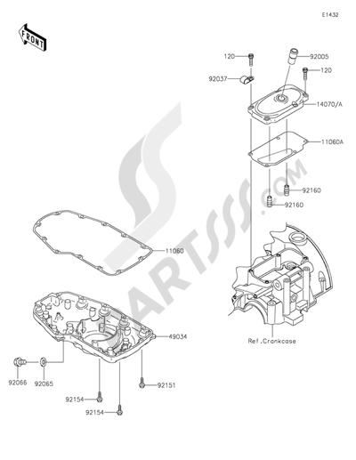Kawasaki W800 2015 Dissassembly sheet. Purchase genuine