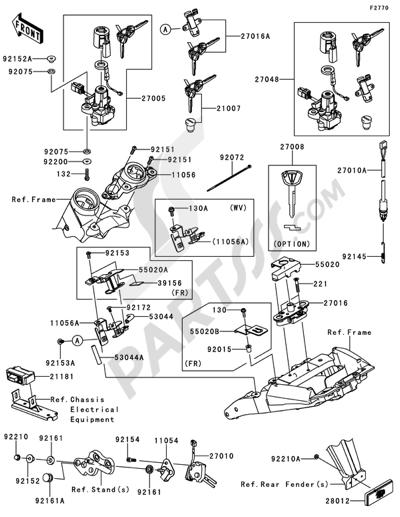 Sezionamenti di ricambi Kawasaki Z1000 ABS 2013. Compra on