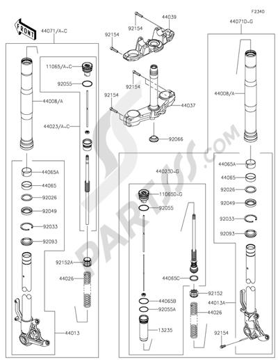 Kawasaki Z1000 ABS 2015 Dissassembly sheet. Purchase