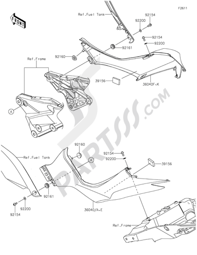 Kawasaki Z1000 ABS 2015 Dissassembly sheet. Purchase