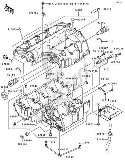 Sezionamenti di ricambi Kawasaki Z750 2004. Compra on-line
