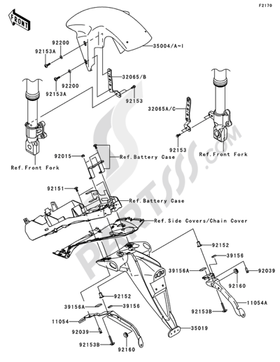 Kawasaki Z750 2010 Dissassembly sheet. Purchase genuine
