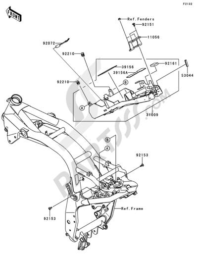 Kawasaki Z750 ABS 2012. 分解図 純正部品をオンライン購入