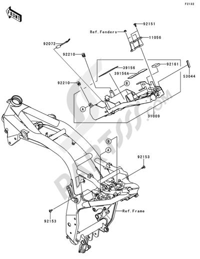 Sezionamenti di ricambi Kawasaki Z750R ABS 2011. Compra on