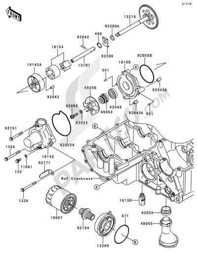 Sezionamenti di ricambi Kawasaki Z750R ABS 2012. Compra on