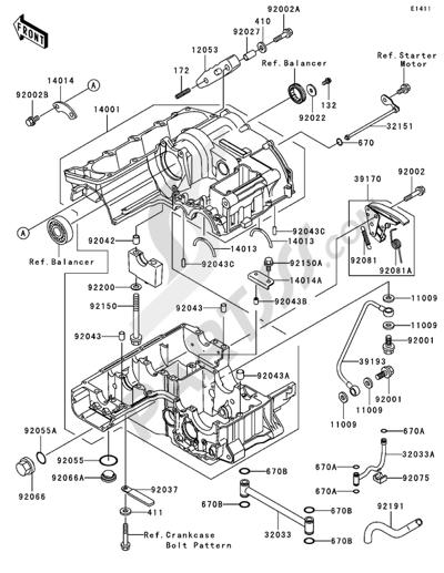 Kawasaki ZRX1200R 2005. 分解図 純正部品をオンライン購入