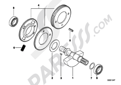 Bmw F650 1997 (E169) Dissassembly sheet. Purchase genuine