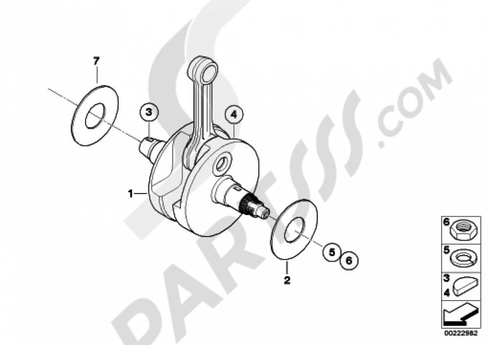 CRANKSHAFTCONNECTING ROD Bmw F650CS SCARVER 2003 (K14)