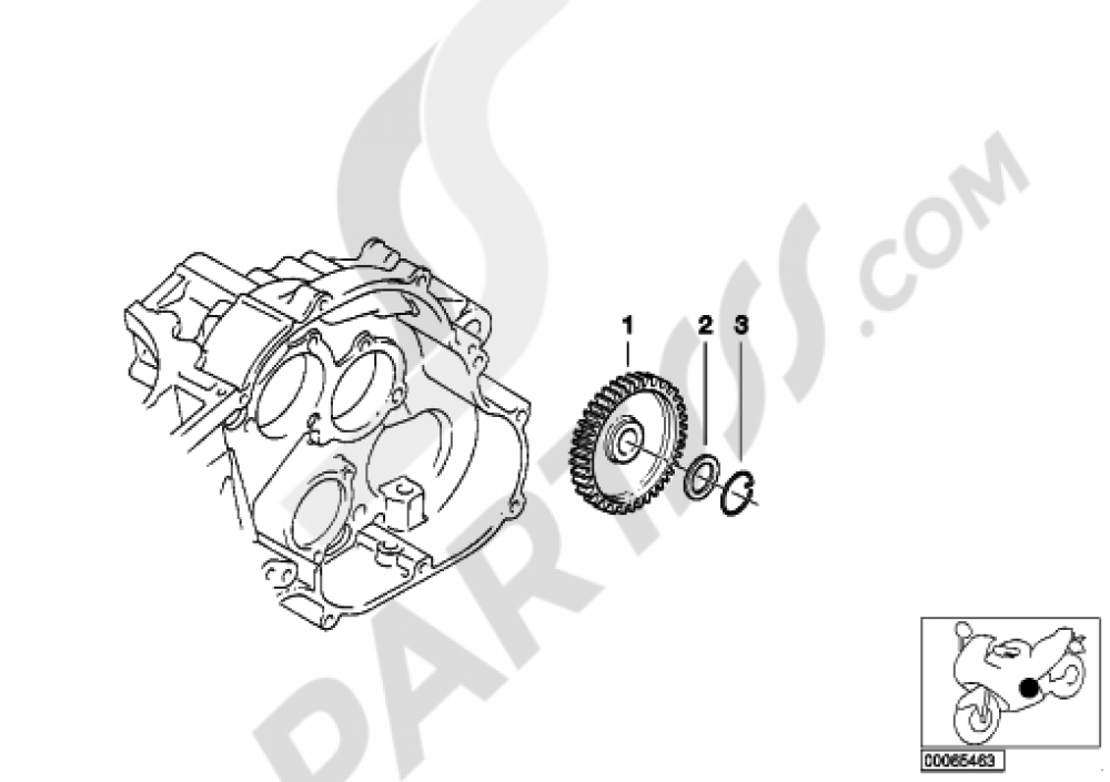 INTERMEDIATE WHEEL, OIL PUMP Bmw F650GS 2001-2004 (R13)