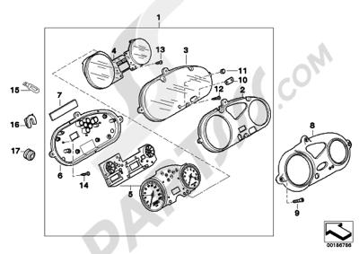 Bmw F650GS Dakar 2001-2004 (R13). 分解図 純正部品をオンライン購入