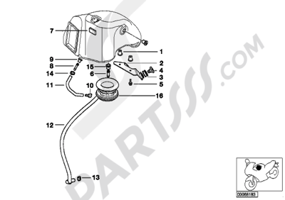 Bmw F650GS Dakar 2001-2004 (R13) Dissassembly sheet