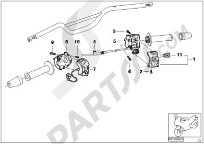 Bmw F650GS DakarM 2005-2007 (R13). 分解図 純正部品をオンライン購入