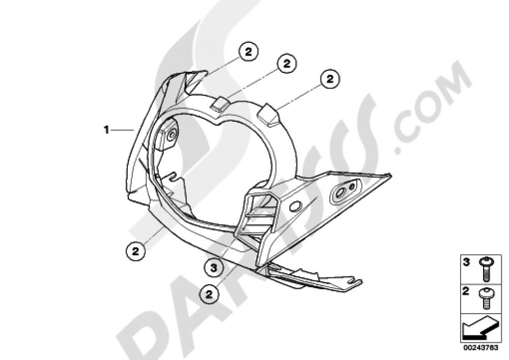 TRIM PANEL UPPER PART Bmw G650GS SERTAO G650GS SERTAO (R134)