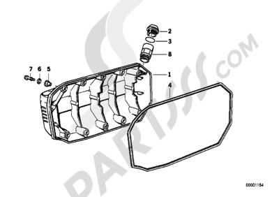 Bmw K1100LT K1100 LT (89V2) Dissassembly sheet. Purchase