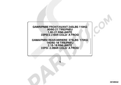 Bmw K1200GT 2006-2008 (K44) Dissassembly sheet. Purchase
