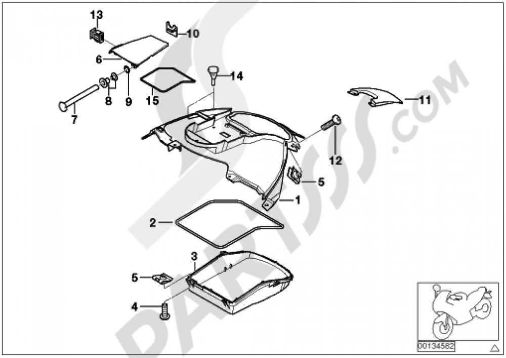 COVERING FUEL TANK Bmw K1200LT 2005-2009 (89V3)
