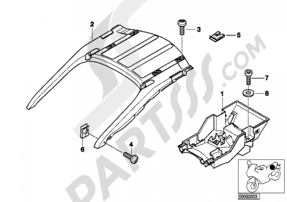 REAR CARRIER PART Bmw K1200LT 1999-2004 (89V3)