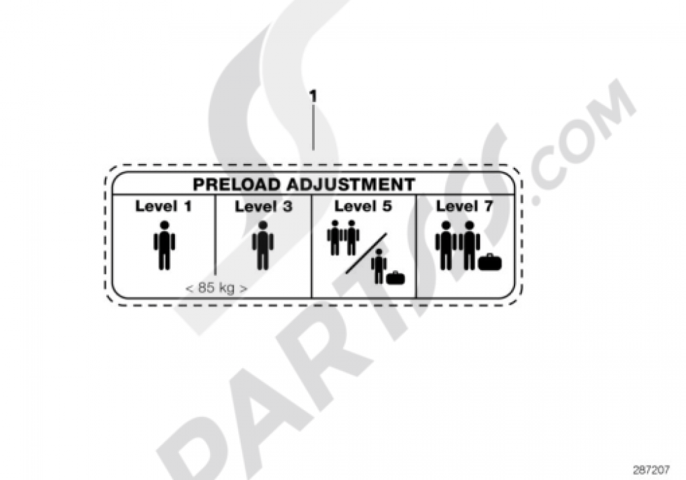 LABEL ADJUSTMENT INSTRUCTION Bmw K1200RS 1998-2001 (89V3)