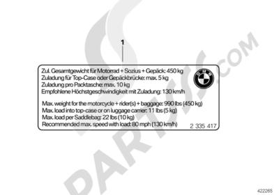 Bmw K1200S K1200S (K40) Dissassembly sheet. Purchase