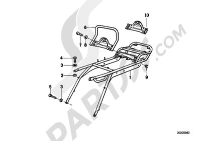 Sezionamenti di ricambi Bmw R100GS PD 1991-1995 (47E2
