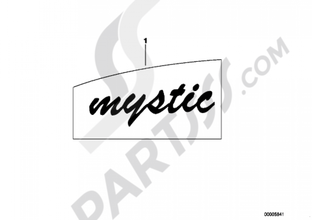 STICKER MYSTIC Bmw R100R R100R (2473)
