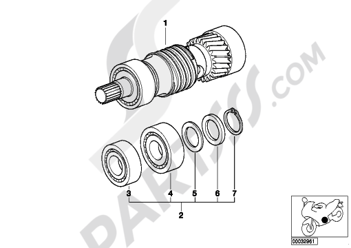 Bmw R1100GS R1100GS (259E) Dissassembly sheet. Purchase