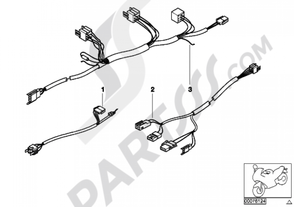 VARIOUS WIRING HARNESS, OFFICIAL VEHICLE Bmw R1100RT
