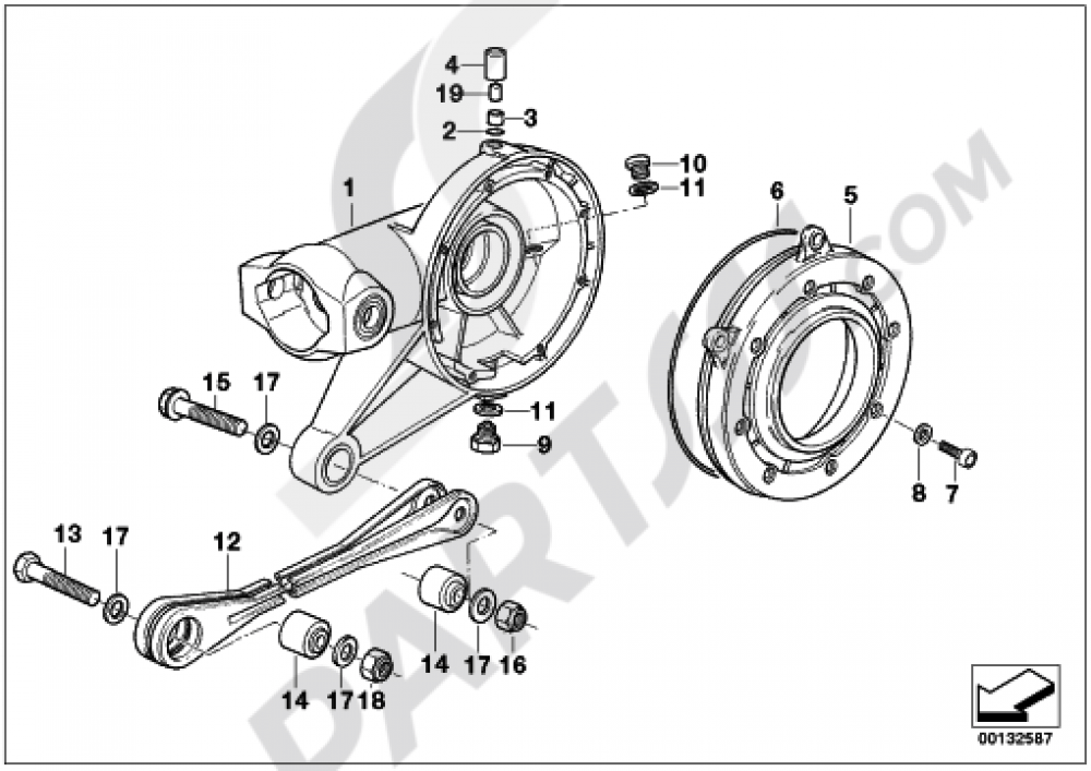 REAR-AXLE-DRIVE PARTS Bmw R1150GS R1150GS (R21)