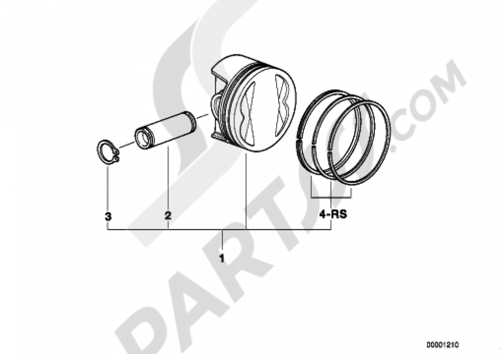 PISTON, SINGLE COMPONENTS Bmw R1200GS ADVENTURE 2006-2007