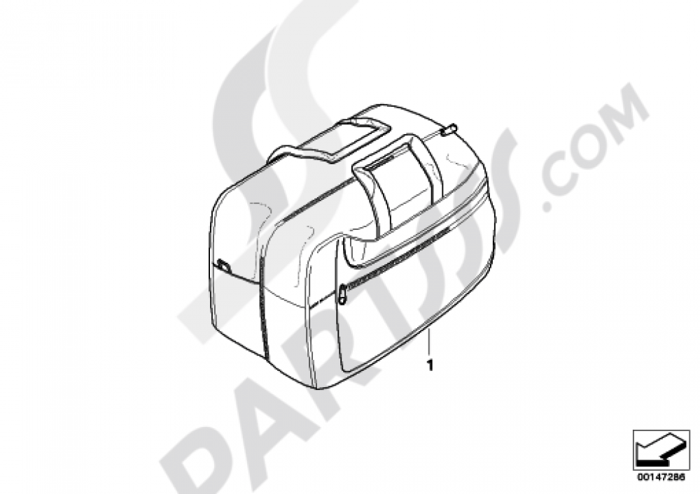 INTERIOR BAG F CASE Bmw R1200RT 2010-2013 (K26)