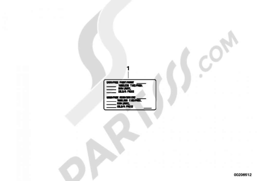 NOTICE STICKER FOR TIRES USACAN Bmw R1200RT 2010-2013 (K26)